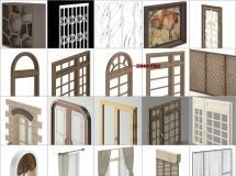 100个精品窗户3d模型 -一品素材单体模型库下载