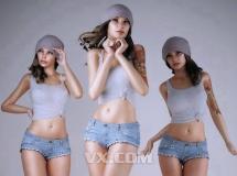 3D人物模型   高精度美女3D模型写实 下载