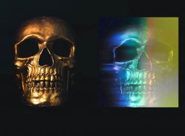 骷髅分色特效AE教程 Motion Science – ProFlow Skull Glitch FX Bonus