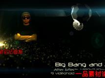 科技点触爆炸动画AE模板,VideoHive Big Bang and After 500999