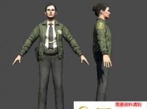 女美国警察 高品质人物CG模型