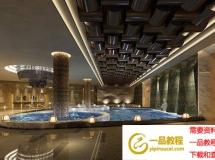 酒店室内游泳池模型