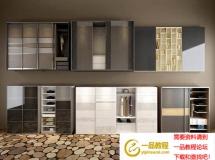 3D门窗模型  现代超精致衣柜 柜门模型 组合 模型高品质 3D模型下载