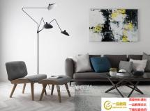 3DMAX现代北欧组合沙发模型 3D模型素材