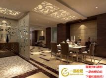3D餐厅模型  现代家装餐厅模型设计