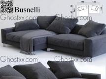 3D沙发模型  多人布艺沙发3Dmax模型 高品质