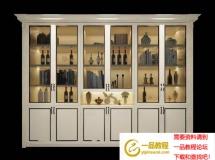 3D柜子模型  欧式实木酒柜红酒3D模型 高品质 3D模型下载