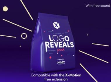 10组扁平化创意图形Logo动画 X-Logo Reveals Pack