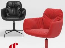 3D办公桌椅   后现代办公休闲椅3D模型下载