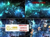 宇宙星空中的三维字幕标题预告片AE模板,2色入