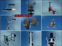 3d室内模型健身房设备三维模型