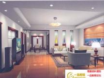 客厅3d模型效果图