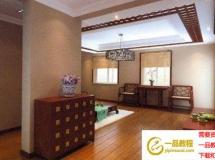中式家装模型效果图