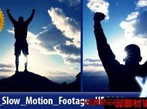 在山顶庆祝高清实拍视频素材,Celebrating On Top
