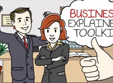AE模板-商务手绘卡通人物场景解说MG动画片头 Business Explainer Video