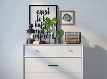 矮柜鞋柜模型下载 白色柜子 高品质模型
