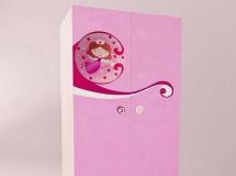 3D衣柜模型  粉色儿童衣柜模型下载