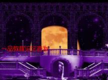 欧式紫色高雅罗马柱LED婚礼结婚高清视频素材舞台晚会背景