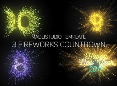烟花粒子倒计时片头 Fireworks Countdown
