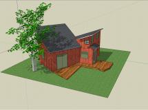 小型别墅整体模型3-1M草图大师su模型