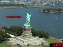 自由女神像航拍高清实拍视频素材1080P