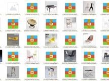 24个高精度椅子沙发模型集合