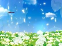蓝天白云茉莉花特效舞台led背景大屏幕视频素材