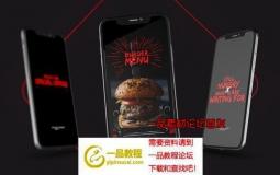 手机端微信社交美食宣传包ae模板 Food Delivery Instagram Promo