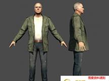 美国老男人 高品质人物CG模型
