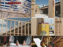木屋施工装修高清实拍视频素材1080P