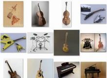 3DDD Musical instruments