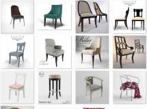 16个3DDD网站椅子模型