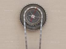 3D钟表挂件 工业风格齿轮墙饰3D模型 下载
