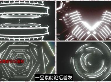 震撼大气黑白循环旋转LED动态背景视频素材