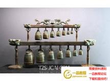 3D摆件模型  中式青铜编钟模型下载