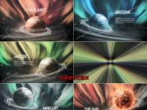 深邃的宇宙星球文字标题展示动画AE模板