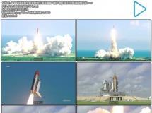 未来科技发展火箭发射烟尘滚滚震撼飞船火箭卫星升空高清视频实拍
