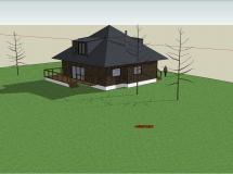 小型别墅整体模型2-1M草图大师su模型