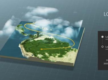 三维世界地图连线动画 World Map Connector