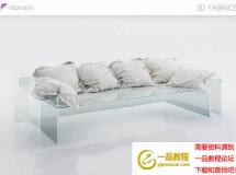 3D软包模型  软包模型 沙发抱枕模型高品质 3D模型下载