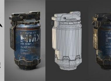 ZBrush手雷建模教程(英文字幕) Udemy – Sculpting In Zbrush – Project Grenade