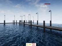 海岸湖边码头环境设施蓝图UE4游戏素材资源