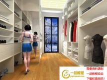 白色实木衣柜、衣帽间 高质量3D模型