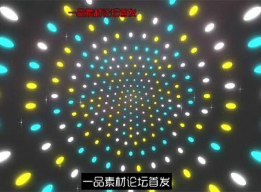 3款炫酷动感灯光照射效果层叠交错旋转派对夜场舞台背景视频素材