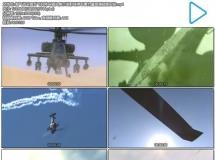 霸气战斗直升飞机特写镜头展示发射导弹军事力量高清视频实 ...