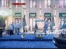 商业街特写3D动画场景