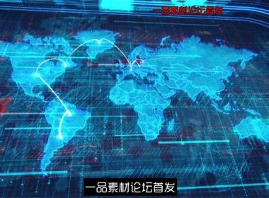 全球信息化趋势互联网交流商业合作LED动态背景视频素材