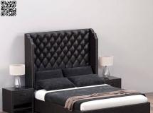 3D床铺模型  带靠背的现代卧室双人床3D模型高品质 3D模型下载