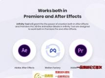 AE+PR脚本预设-1200组文字标题排版背景转场图形动画工具包V1.2
