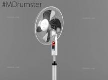 3D家电模型  风扇3D模型下载